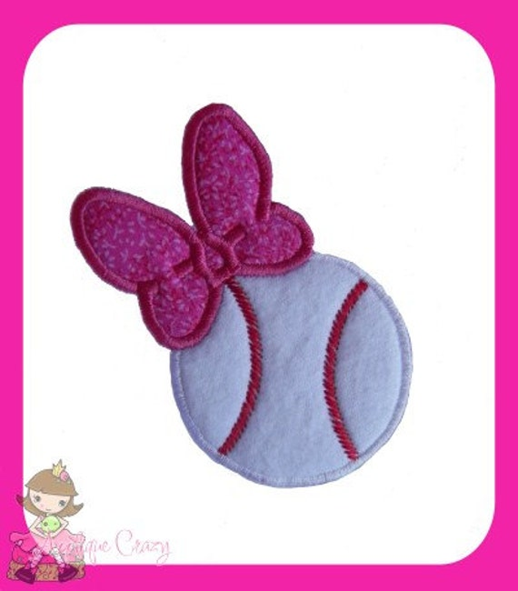 Girly Baseball Applique design