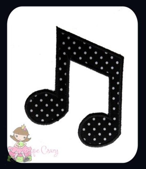 Music Note 4 Applique design