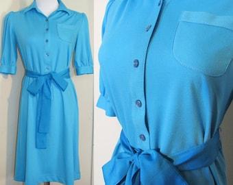 Vintage 80's Dress Polo Small Petite