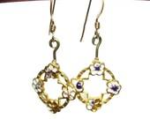 Vintage French hook dangle earrings