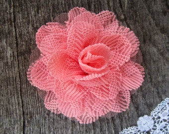 Pink Flower Lace and Tulle -- 1 pc