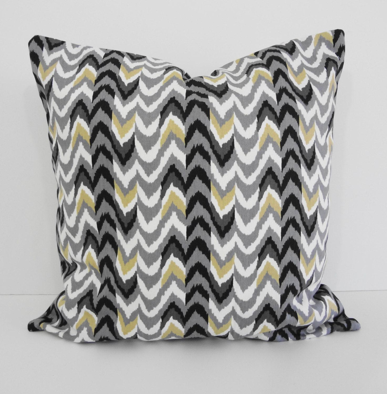 Decorative Pillow Fabric : Decorative Chevron Pillow Cover Waverly Fabrics Living