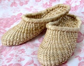 Handwoven Straw Slippers