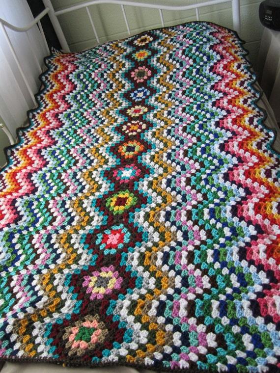 Easy Crochet Patterns For Lap Blankets : Crochet Ripple Play Blanket...Baby Crochet Lap by GalyaKireva