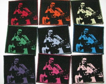 One Johnny Cash canvas patch in any color you choose....FREE SHIPPING USA