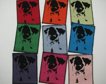 One angry dog canvas patch in any color you choose....FREE SHIPPING USA