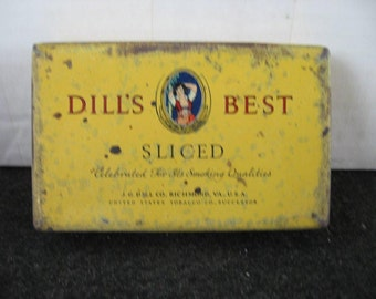 Vintage Dill's Best Sliced Tobacco tin-Tobaccana,