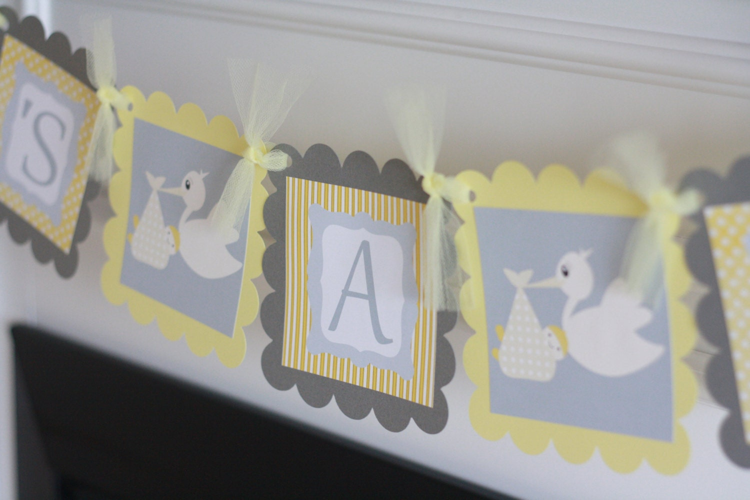 baby shower yellow grey stork theme it 39 s a