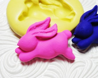 Bunny Mold Flexible Silicone Rubber Push Mould Easter Bunny for Resin Wax FIMO Fondant Royal Icing Chocolate Polymer Clay Metal Clay