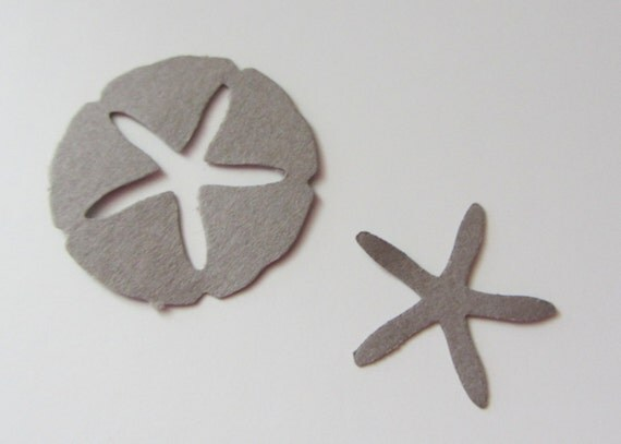 Sand Dollar and Starfish Die Cuts - Scrapbooking, Confetti, Wedding, Party Decoration - Clearance