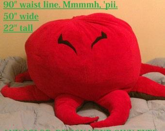 Custom Color GIANT OCTOPUS plush, pillow, mascot - FREE shipping