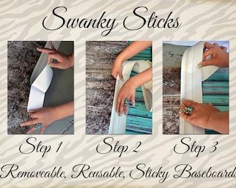 NEW ITEM / Swanky Stick Baseboards / Sticky Baseboards / One 5ft baseboard