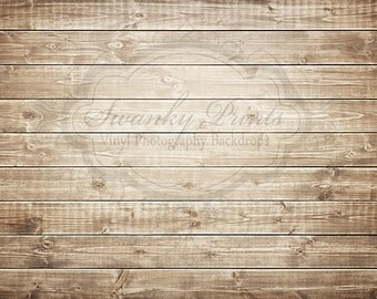 IN STOCK / Fast Shipping / 4ft x 3ft Vinyl Photography Backdrop / Brown Washed Wood