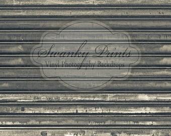 7ft x 7ft Vinyl Photography Backdrop / Floordrop / Scuffed Peeling Black Gray Wood
