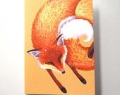 Fox greetings card (mini)