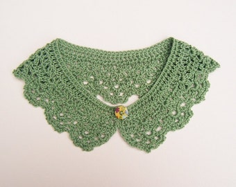 Green Crochet Collar Lace Neck Accessory
