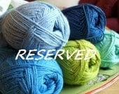 Reserved for Maria-Baby Blanket in Ivory