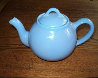 Vintage  Lipton Teapot in Beautiful French Blue Glaze Color Finish, Collectable, Chic, Decorative and Functional Tea Pot in Great Condition