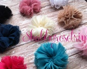 Chiffon Round Frayed Flowers- you choose colors