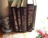 Black Books With Gold Letters for decorating, weddings, props, photo shoots - REDUCED