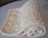 Baby Blanket Vanilla Thick Super Soft Light Plush Blanket- Great Baby Gift-Super Soft Crocheted Blanket - Photo Prop - Basket/Pail Filler