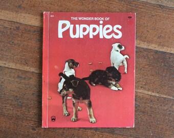 Vintage Children's Book - The Wonder Book of Puppies (Wonder Book - 1974)