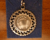 Lawrence Welk Silverplated Accordion Charm / Pendant. Free Shipping.