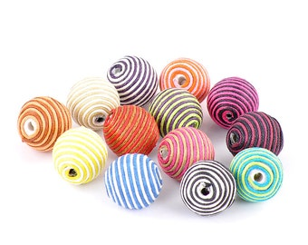 SALE Handmade Beads Assorted 21mm  5pcs -  Ships IMMEDIATELY  from California - B610