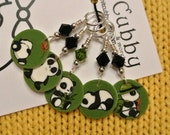 Adorable PANDA-monium NON SNAG Stitch Markers