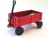 Little Red Waggon Pencil Sharpener Durham Style Die Cast Metal Miniature Figurine
