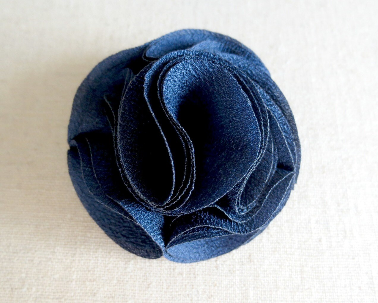 1 Pc Navy Blue 2 Inch Folded Flower From