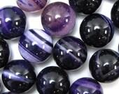 "Agate beads, strype, round, purple, white, 8mm/0.3149"", 10 pcs, gemstone, supplies"