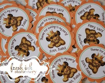 Personalized Simba Lion King Stickers