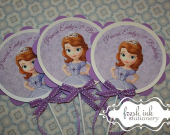Sofia the First Centerpiece or Cake Top