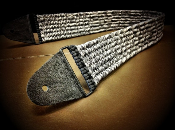 paracord custom guitar strap by tacticalblackrds on etsy