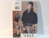 Caplet Sewing Pattern Boa Shrug Muff Accessories Pattern FF uncut Misses vogue 9963 Womans All Sizes Free US Ship