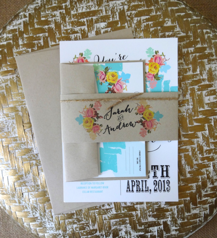 Custom Rustic Wedding Invitations: For Jess RUSTIC WEDDING INVITATION Suite Unique Custom