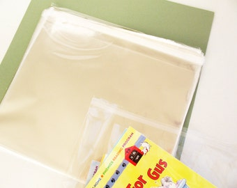 50- 8 x 10 Resealable Clear Cello Bags