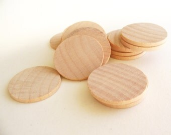 100 Unfinished Wooden Circles 1.50""