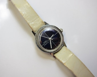 Vintage Timex Electric C Cell Watch Navy Blue Dial from England
