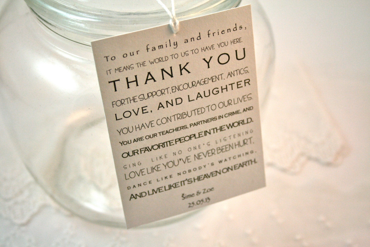 Thank You Quotes For Wedding Favors. QuotesGram