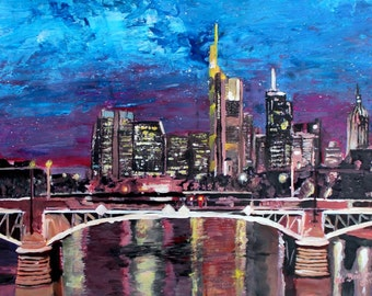 Frankfurt Main Germany - Mainhattan Skyline - Limited Edition