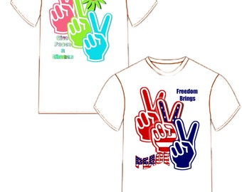 Peace Hand Sign Tee Shirt