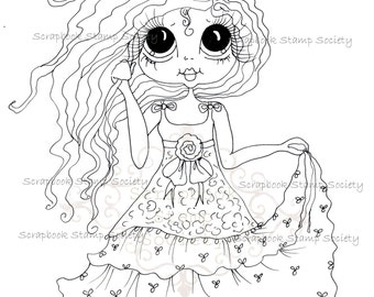 INSTANT DOWNLOAD Digital Digi Stamps Big Eye Big Head Dolls Digi  IMG816 By Sherri Baldy