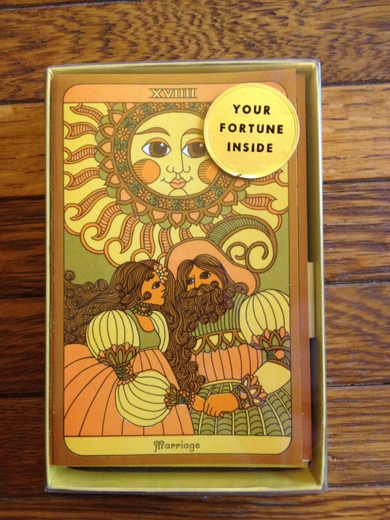 Tarot Notes Review Wonderland Tarot In A Tin: 1970s Tarot Note Cards By DumpstrDivingDiva On Etsy