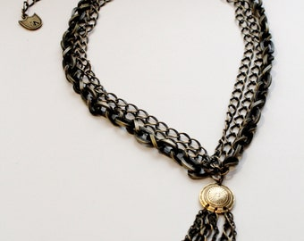 chain lariat necklace // KRUG