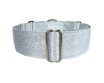 SALE: 1.5-inch Size Large Mod Oz Tin Man Martingale Dog Collar