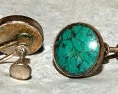 PAWN NAVAJO MANASSA Earrings Sterling c1938