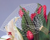 Deluxe DIY Kit & Tutorial - Bandeau Birdcage Veil Blusher - Many Netting colors - choose silver or gold metal comb
