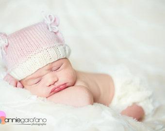 Teddybear hat for newborns